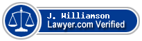J. Peter Williamson  Lawyer Badge
