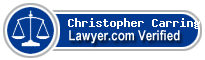 Christopher Patrick Carrington  Lawyer Badge