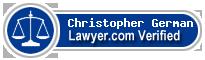 Christopher Allen German  Lawyer Badge