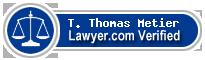 T. Thomas Metier  Lawyer Badge