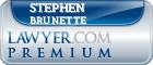 Stephen A Brunette  Lawyer Badge