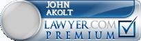 John P Akolt  Lawyer Badge