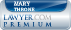 Mary A Throne  Lawyer Badge