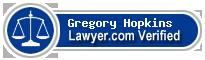 Gregory V Hopkins  Lawyer Badge