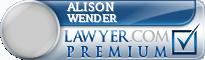 Alison Marks Wender  Lawyer Badge