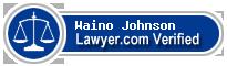Waino W Johnson  Lawyer Badge
