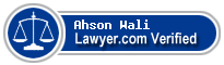 Ahson Barkat Wali  Lawyer Badge