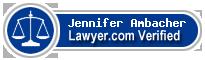 Jennifer Ambacher  Lawyer Badge