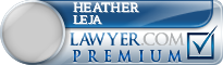 Heather Purcell Leja  Lawyer Badge