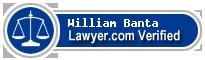 William Montague Banta  Lawyer Badge
