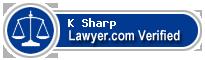 K Howard Sharp  Lawyer Badge