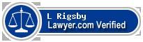 L Lane Rigsby  Lawyer Badge