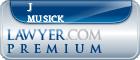 J Michael Musick  Lawyer Badge