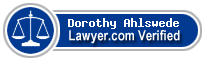Dorothy Jean Ahlswede  Lawyer Badge