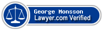 George Nels Monsson  Lawyer Badge