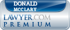 Donald F Mcclary  Lawyer Badge