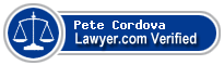 Pete Cordova  Lawyer Badge