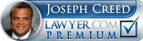 Joseph W Creed  Lawyer Badge