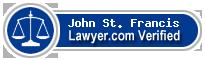 John B. St. Francis  Lawyer Badge