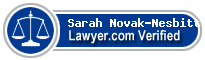 Sarah Novak-Nesbitt  Lawyer Badge