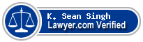 Sean K. Singh  Lawyer Badge