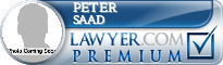 Peter A. Saad  Lawyer Badge