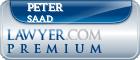 Peter A. Saad  Lawyer Badge