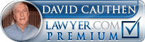 David E. Cauthen  Lawyer Badge