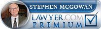 Steve McGowan  Lawyer Badge