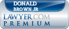 Donald Mitchell Brown Jr  Lawyer Badge