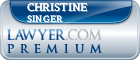 Christine Ezzell Singer  Lawyer Badge