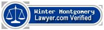 Winter Joy Montgomery  Lawyer Badge