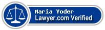 Maria Neumann Yoder  Lawyer Badge