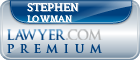 Stephen Paul Lowman  Lawyer Badge