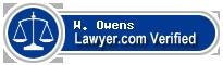 W. Lance Owens  Lawyer Badge