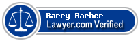 Barry Dale Barber  Lawyer Badge