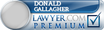 Donald C Gallagher  Lawyer Badge