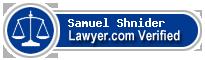 Samuel Phillip Shnider  Lawyer Badge