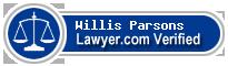 Willis G Parsons  Lawyer Badge