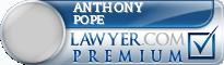 Anthony J Pope  Lawyer Badge