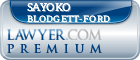 Sayoko Blodgett-Ford  Lawyer Badge