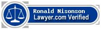 Ronald Seth Nisonson  Lawyer Badge