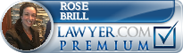 Rose Brill  Lawyer Badge