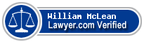William Gaston McLean  Lawyer Badge