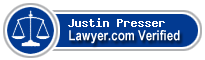 Justin Presser  Lawyer Badge
