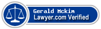 Gerald Keith Mckim  Lawyer Badge