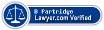 B W Partridge  Lawyer Badge