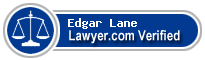 Edgar L. Lane  Lawyer Badge