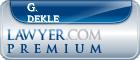 G. C. Dekle  Lawyer Badge