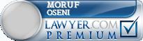 Moruf Olalere Oseni  Lawyer Badge